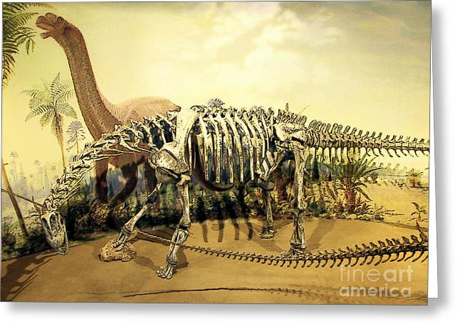 Dinosaurs Greeting Cards - Drumheller Dinosaur Greeting Card by Ellen Cotton