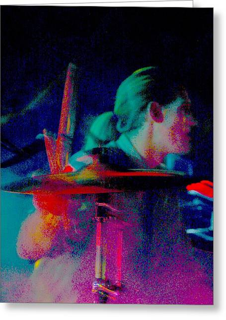 Drum Sticks Greeting Cards - Drummer  Greeting Card by Tommy Simpson