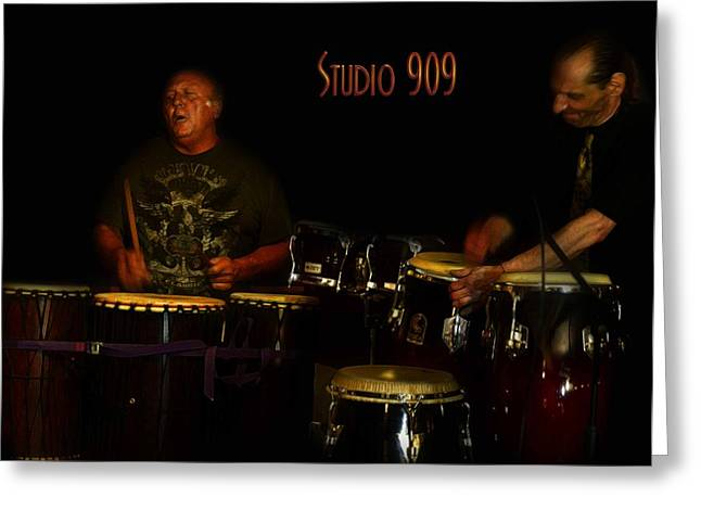 Musicans Greeting Cards - Drummers  Greeting Card by Craig Swift