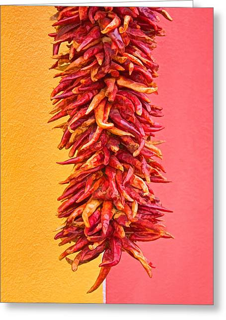 Chilies Greeting Cards - Dry Chilies  Greeting Card by Skip Hunt