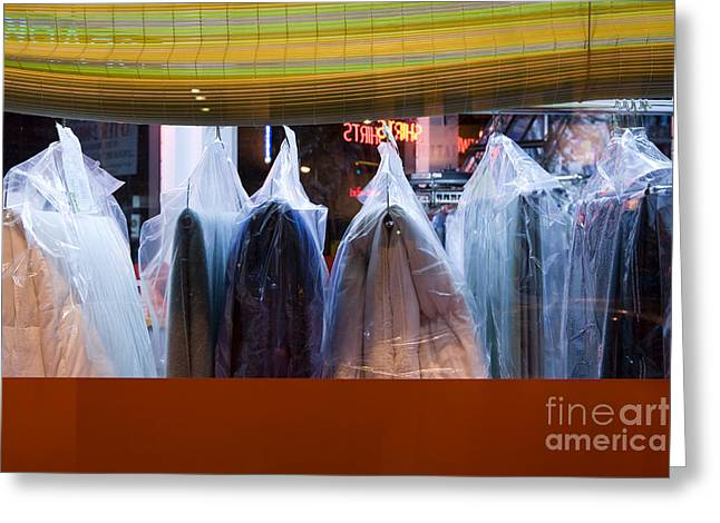 Dry-cleaned Clothing Greeting Card by Paul Edmondson