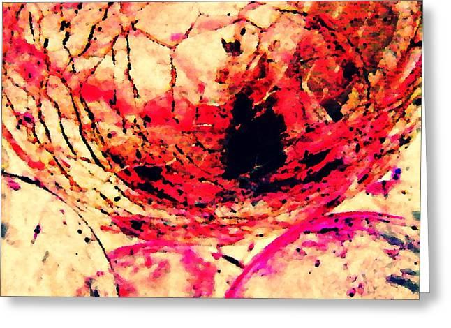 Sarah Loft Greeting Cards - Dry Earth Digital Abstract 3 Greeting Card by Sarah Loft