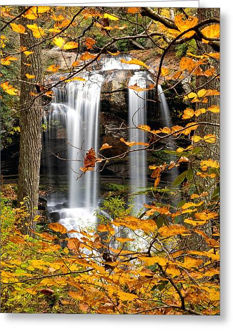 Waterfall Photographs Greeting Cards - Dry Falls in Autumn Greeting Card by Rob Travis