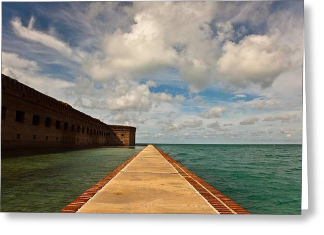 Dry Tortugas National Park Greeting Cards - Dry Tortugas Sea Wall Greeting Card by Patrick  Flynn