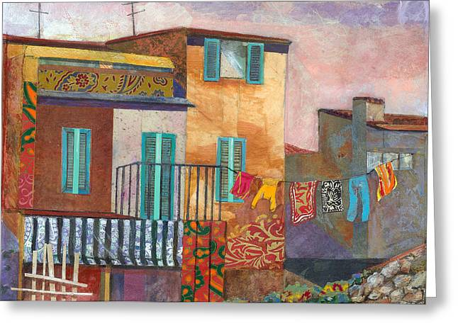 Florence Mixed Media Greeting Cards - Drying in the Tuscan Sun Greeting Card by Marty Husted