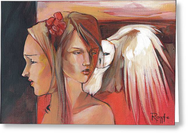 Two-faced Greeting Cards - Duality Greeting Card by Jacque Hudson