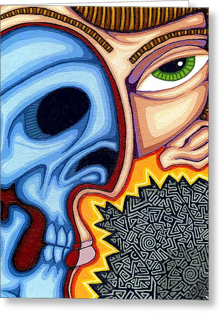 Inner Self Paintings Greeting Cards - Duality Greeting Card by Jason Hawn