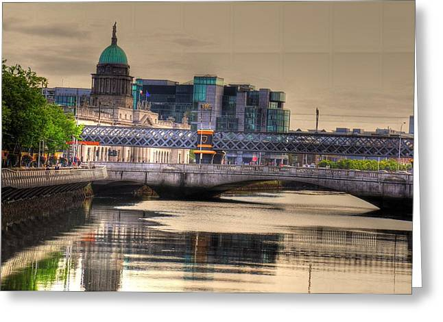 Barry R Jones Jr Digital Art Greeting Cards - Dublin Greeting Card by Barry R Jones Jr