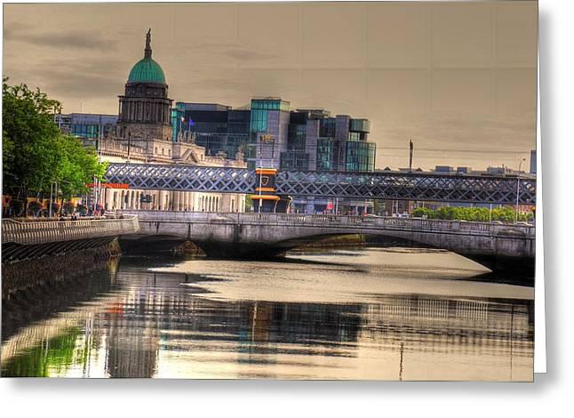 Dublin Greeting Card by Barry R Jones Jr