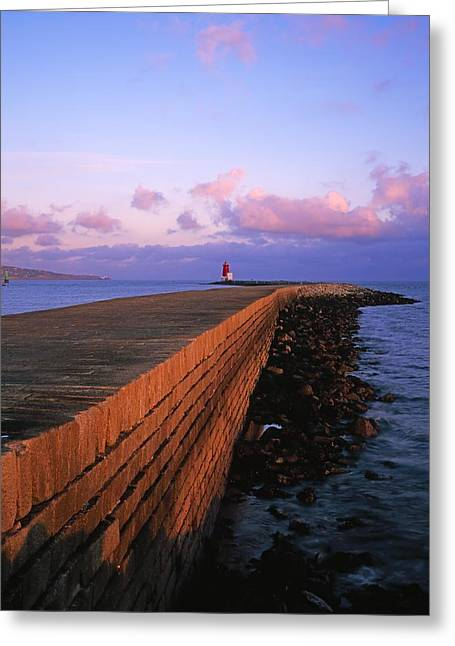 Ocean Images Greeting Cards - Dublin Bay, Co Dublin, Ireland East Greeting Card by The Irish Image Collection