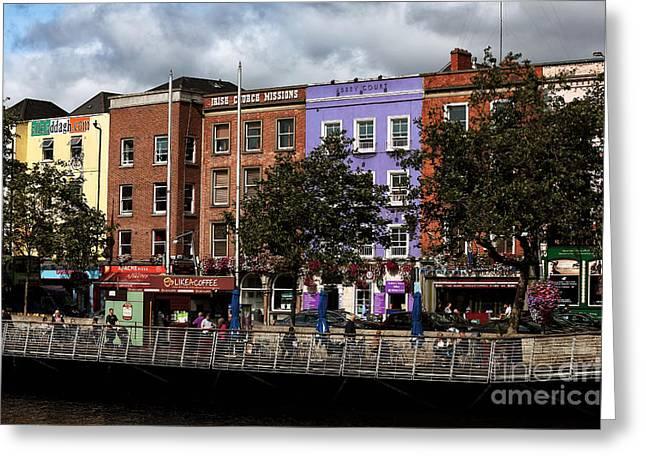 Dublin Building Colors Greeting Card by John Rizzuto