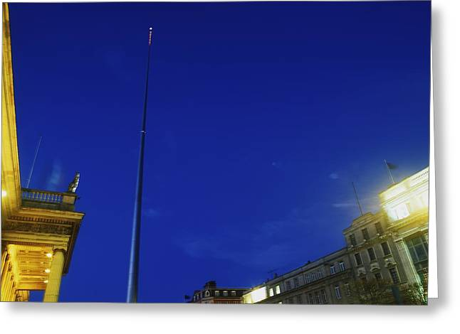 Illuminate Greeting Cards - Dublin, Co Dublin, Ireland, The Spire Greeting Card by The Irish Image Collection