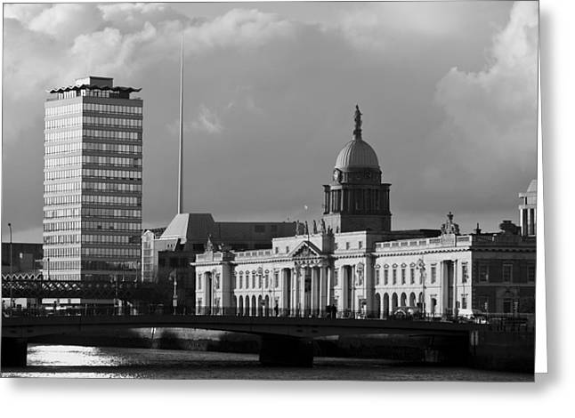 Photograph Greeting Cards - Dublin Custom House Greeting Card by Marcio Faustino