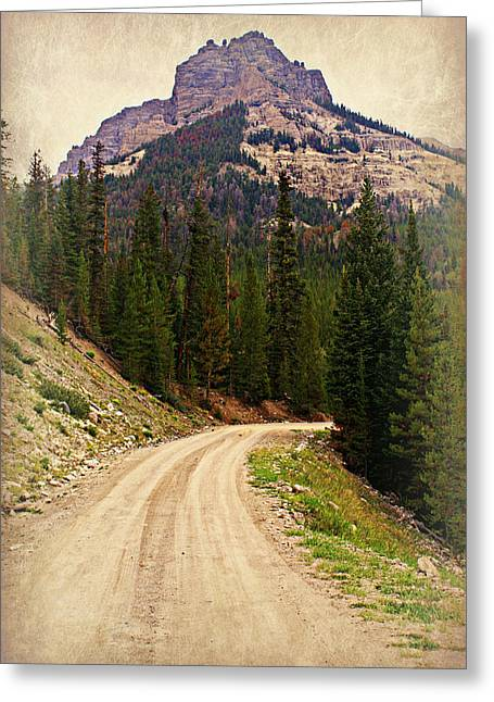 Dubois Mountain Road Greeting Card by Marty Koch
