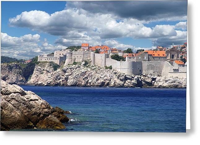 Dubrovnik Greeting Cards - Dubrovnik on the Adriatic Greeting Card by Don Wolf