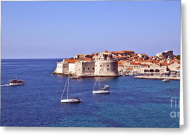 Dubrovnik Greeting Cards - Dubrovnik View 2 Greeting Card by Madeline Ellis