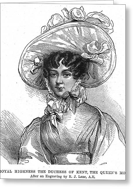 Duchess Greeting Cards - Duchess Of Kent (1786-1861) Greeting Card by Granger