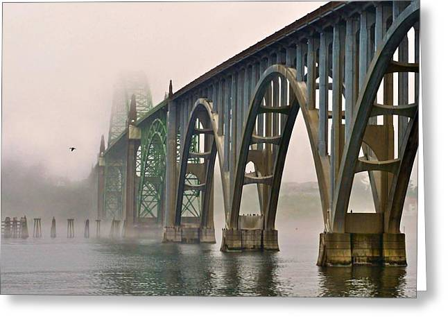 Yaquina Bay Bridge Greeting Cards - Duck Day Afternoon Greeting Card by Alice Martin