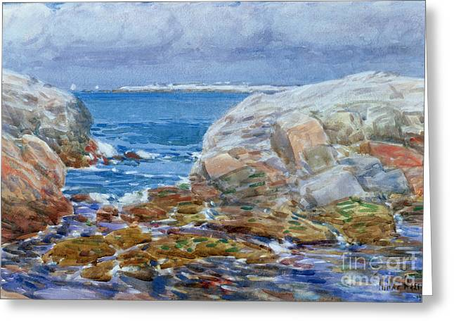 New England Ocean Greeting Cards - Duck Island Greeting Card by Childe Hassam