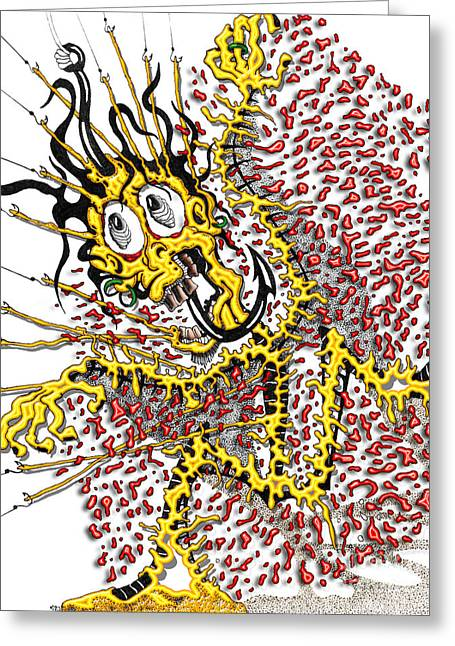 Bad Drawing Photographs Greeting Cards - Dude a Bad Day Greeting Card by Jack Norton