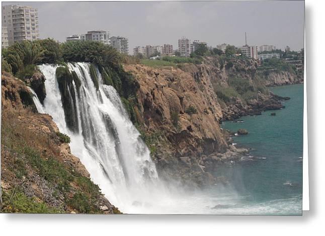 Duden Waterfalls In Turkey Greeting Card by