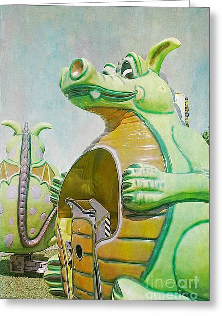 Amusements Greeting Cards - Duffy the Dragon Greeting Card by Cindi Ressler