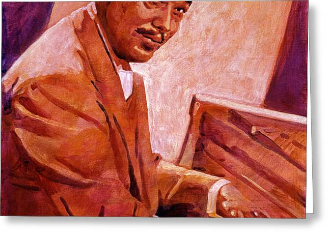 Duke Ellington Greeting Card by David Lloyd Glover
