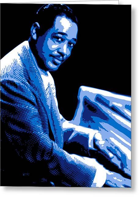 Duke Greeting Cards - Duke Ellington Greeting Card by DB Artist