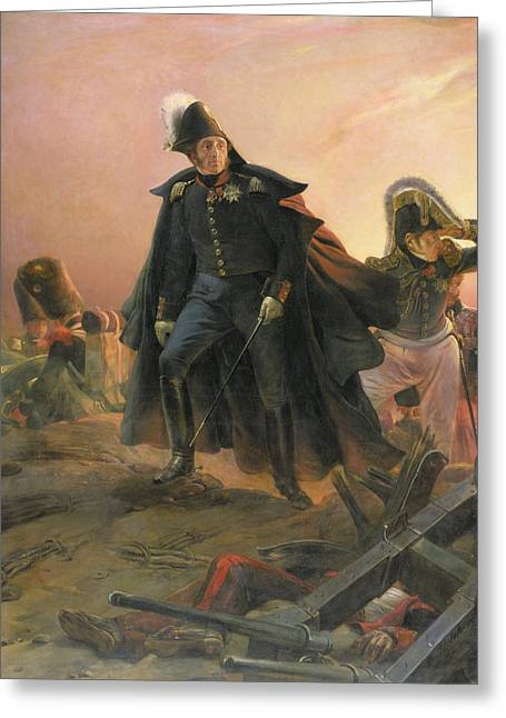 Surveying Greeting Cards - Duke of Angouleme at the capture of Trocadero Greeting Card by Hippolyte Delaroche