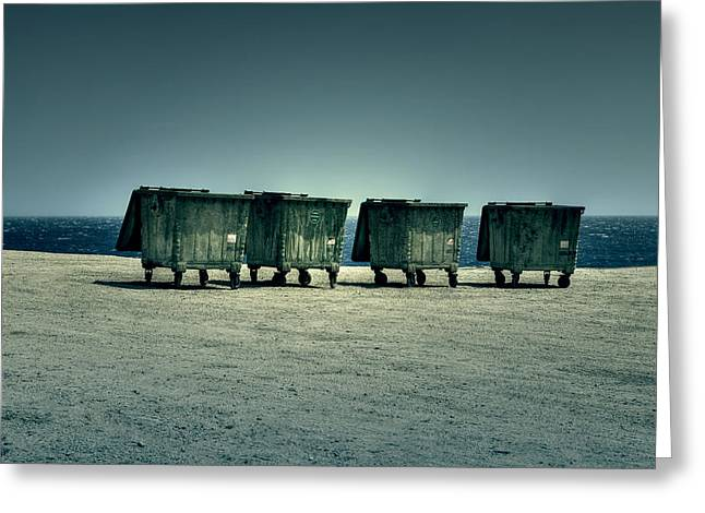 Wasted Greeting Cards - Dumpster Greeting Card by Joana Kruse