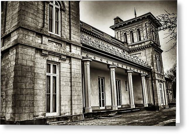 Dundurn Castle Greeting Cards - Dundurn Castle BW Greeting Card by Larry Simanzik