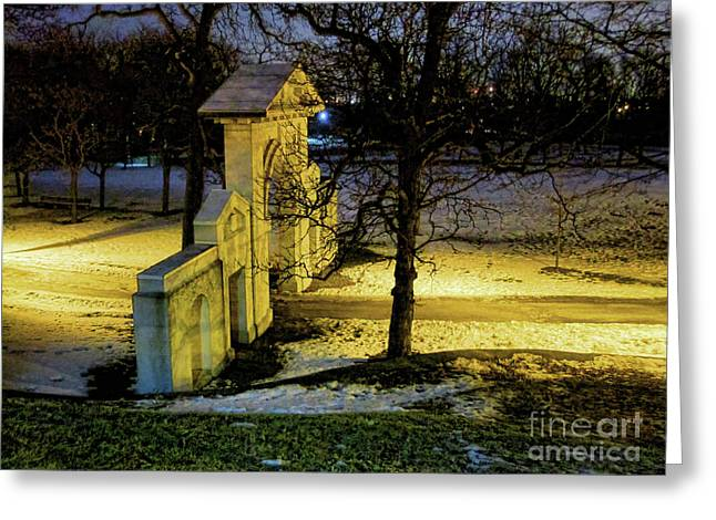 Dundurn Castle Greeting Cards - Dundurn Castle Gate Greeting Card by Larry Simanzik