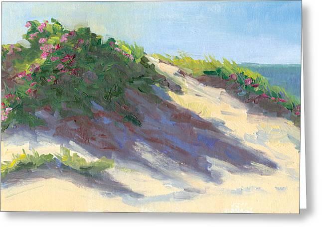 Chatham Greeting Cards - Dune Roses Greeting Card by Barbara Hageman