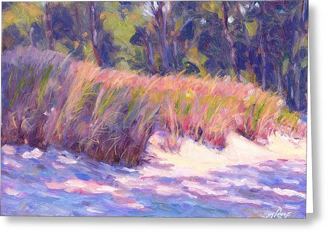 Sand Dunes Paintings Greeting Cards - Dune Shadows Greeting Card by Michael Camp