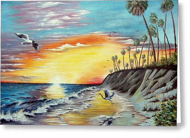 Dune Sunset Reflections Greeting Card by Riley Geddings