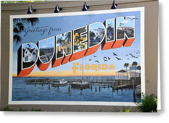 Small Towns Greeting Cards - Dunedin Florida Post Card Greeting Card by David Lee Thompson