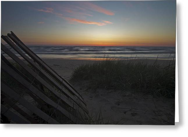 Lake Michgan Greeting Cards - Dunes And Beach At Dawn Greeting Card by Sven Brogren