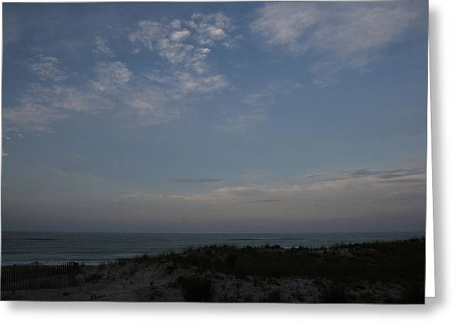 Long Island Photographs Greeting Cards - Dunes Clouds and Ocean Greeting Card by Christopher Kirby