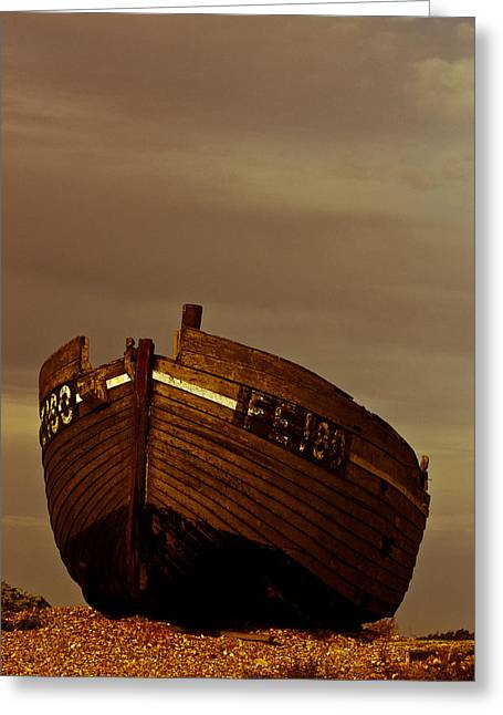 Old Fishing Boat Greeting Cards - Dungeness Fishing Boat Greeting Card by Dawn OConnor