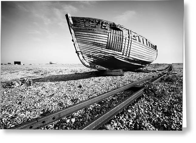 Old Ship Art Greeting Cards - Dungeness Ship Wreck Greeting Card by Nina Papiorek