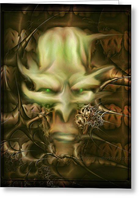 Dungeons Greeting Cards - Dungeon Master Greeting Card by Mimulux patricia no