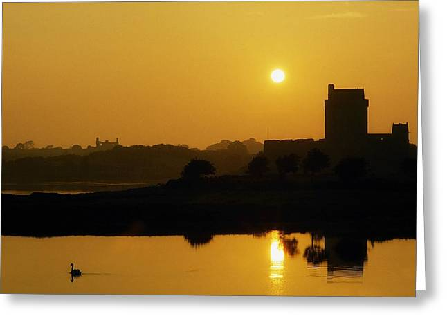 Reflections Of Shadows Greeting Cards - Dunguaire Castle, Kinvara, County Greeting Card by The Irish Image Collection