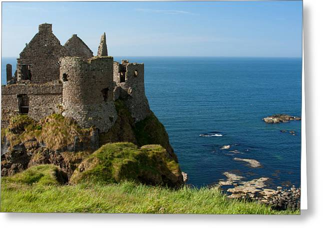 Dunce Greeting Cards - Dunluce Castle Antrim Ireland Greeting Card by Celine Pollard