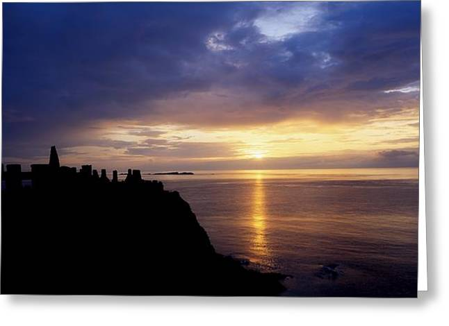 Dunluce Castle At Sunset, Co Antrim Greeting Card by The Irish Image Collection