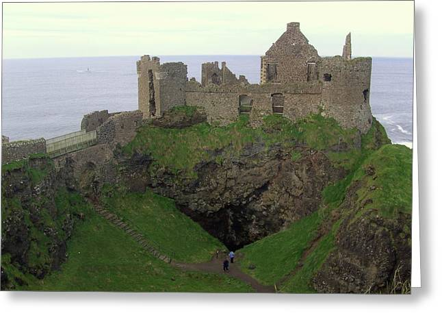 Medival Greeting Cards - Dunluce Castle Greeting Card by Emer O Hara