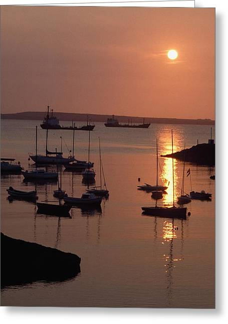 Boats On Water Greeting Cards - Dunmore East, Co Waterford, Ireland Greeting Card by The Irish Image Collection