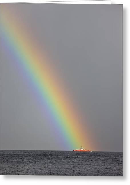 Sightsee Greeting Cards - Dunoon, Argyll, Scotland Rainbow Greeting Card by John Short