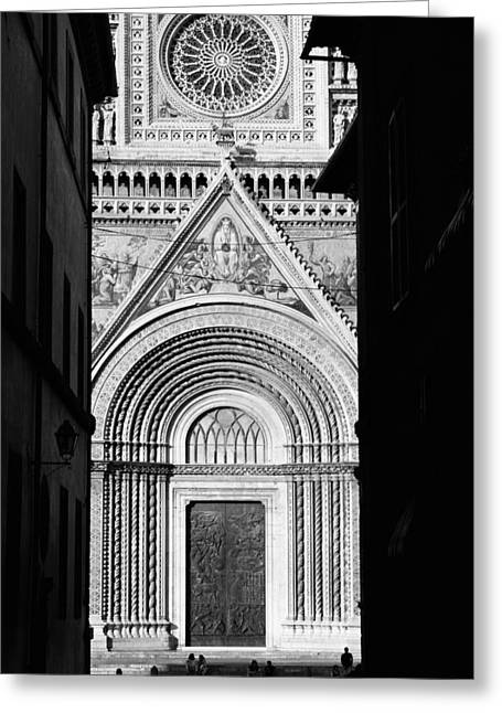 Orvieto Greeting Cards - Duomo I Greeting Card by Artecco Fine Art Photography