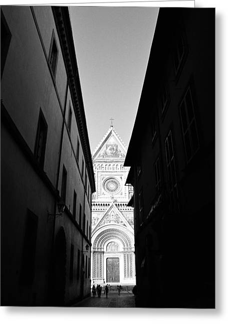 Orvieto Greeting Cards - Duomo II Greeting Card by Artecco Fine Art Photography