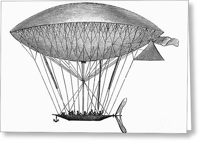 1870s Greeting Cards - Dupuy De LÔme Airship Greeting Card by Granger